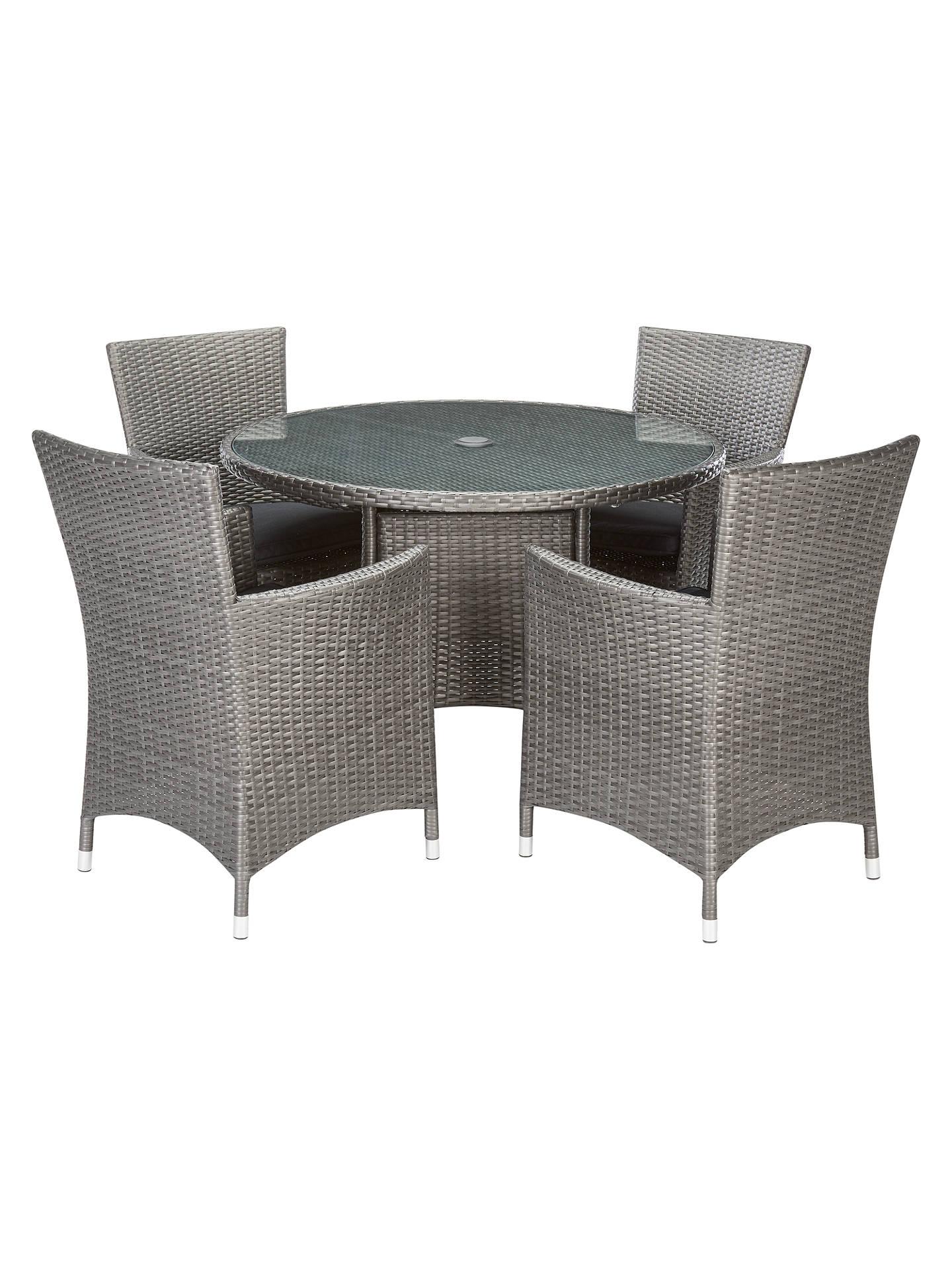 BuyJohn Lewis U0026 Partners Almeria Garden 4 Seater Dining Table, Grey Online  At Johnlewis.