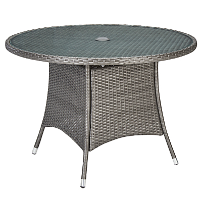 John Lewis Almeria Outdoor 4 Seater Dining Table, Grey