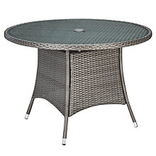 Buy John Lewis Almeria Outdoor 4 Seater Dining Table, Grey Online at johnlewis.com