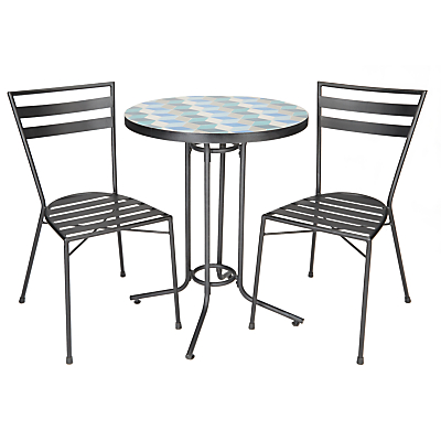 John Lewis Suri 2 Seater Mosaic Bistro Table and Chairs Set, Multi