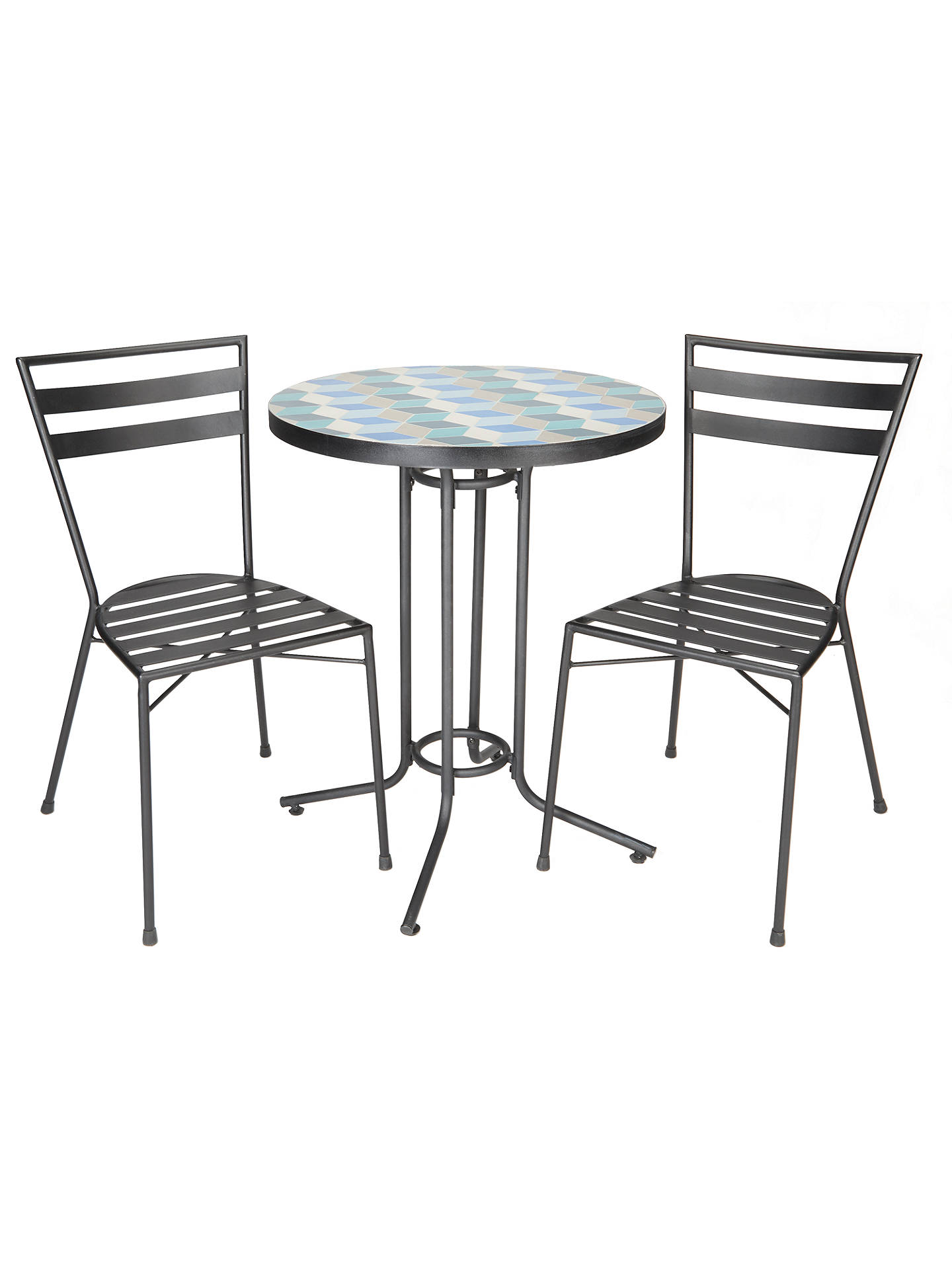 John Lewis Partners Suri 2 Seater Mosaic Bistro Garden Table And Chairs Set
