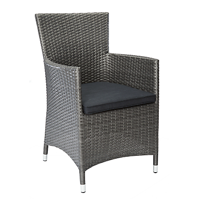 John Lewis Almeria Outdoor Dining Armchair, Grey
