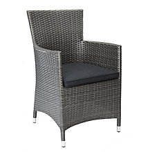 Buy John Lewis Almeria Outdoor Dining Armchair, Grey Online at johnlewis.com