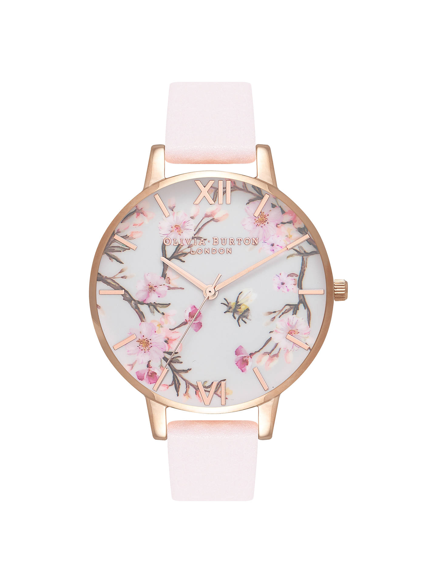 Olivia Burton OB16EX103 Women s Bee Blossom Leather Strap Watch ... bcab37475