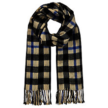 Buy Miss Selfridge Mono Check Scarf, Cobalt Online at johnlewis.com