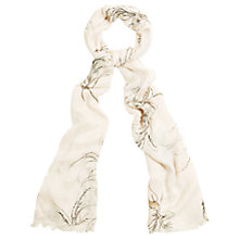 Buy Phase Eight Beatrix Sketchy Floral Print Scarf, Cream Online at johnlewis.com