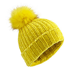 Buy Miss Selfridge Chenille Ribbed Pom Pom Beanie Hat Online at johnlewis.com