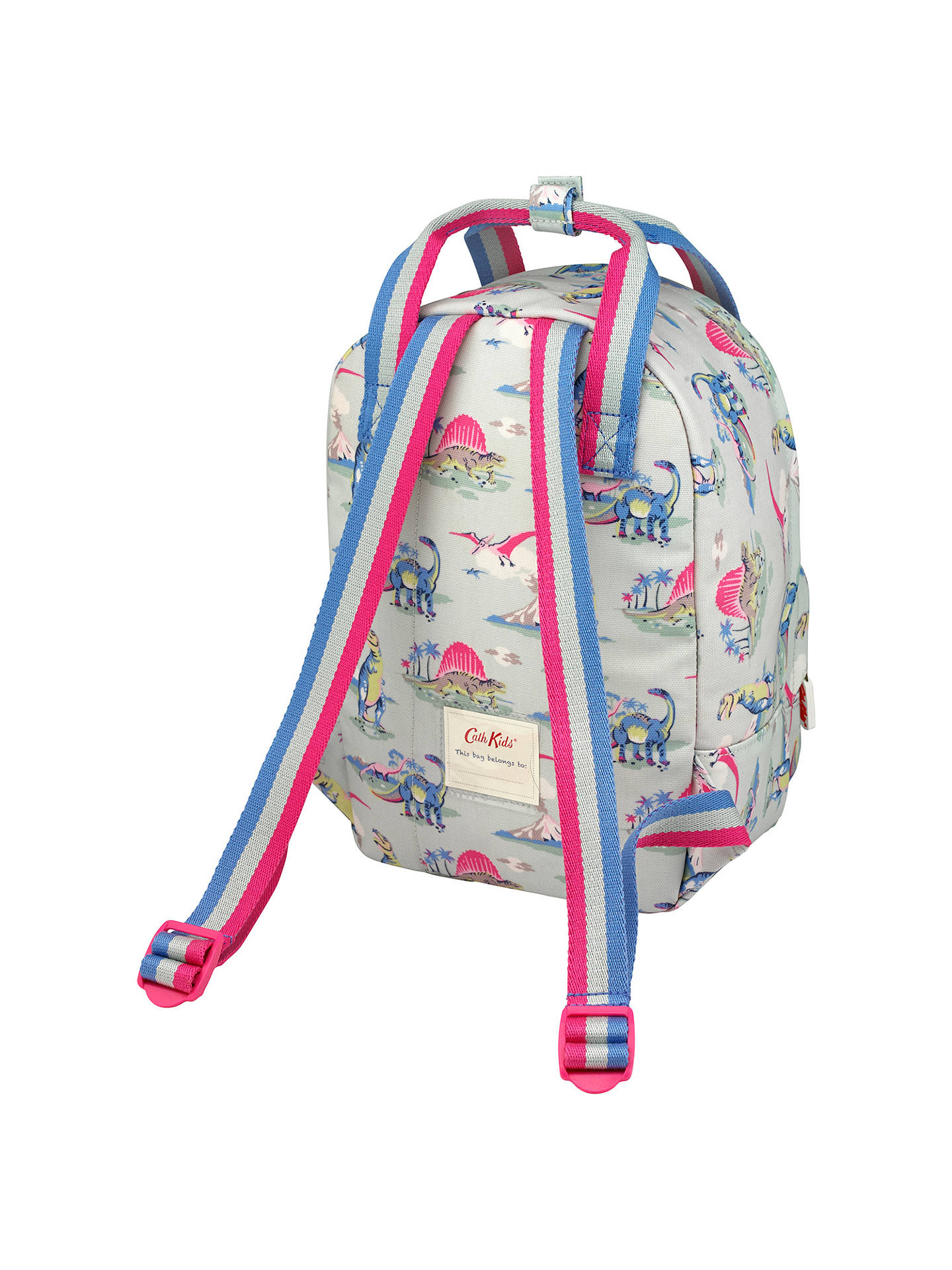 b653404f9ba ... BuyCath Kidston Children s Dinosaur Print Medium Backpack, Blue Pink  Online at johnlewis. ...