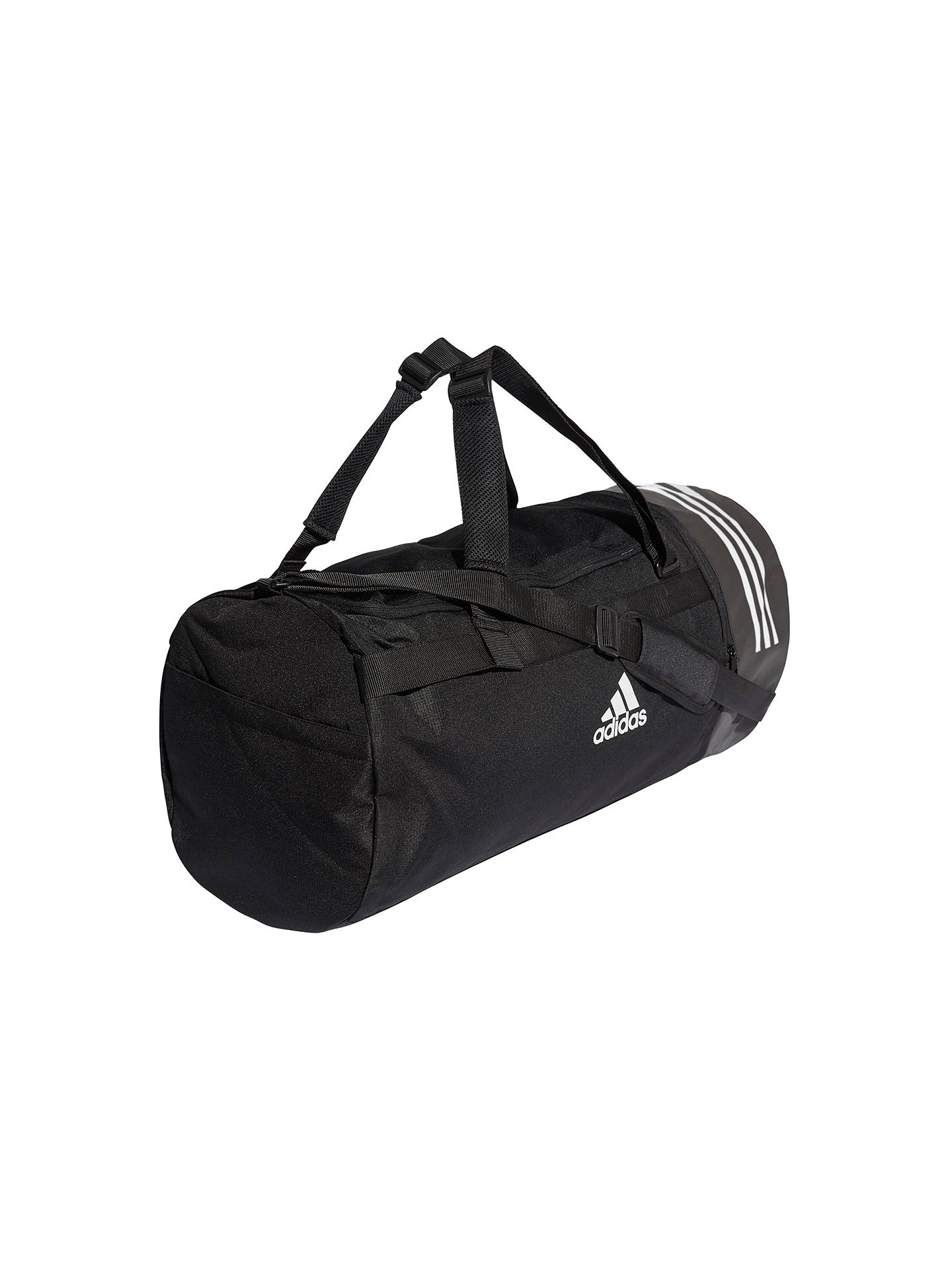 Buy adidas Convertible 3-Stripes Duffle Bag, Large, Black Online at johnlewis.com