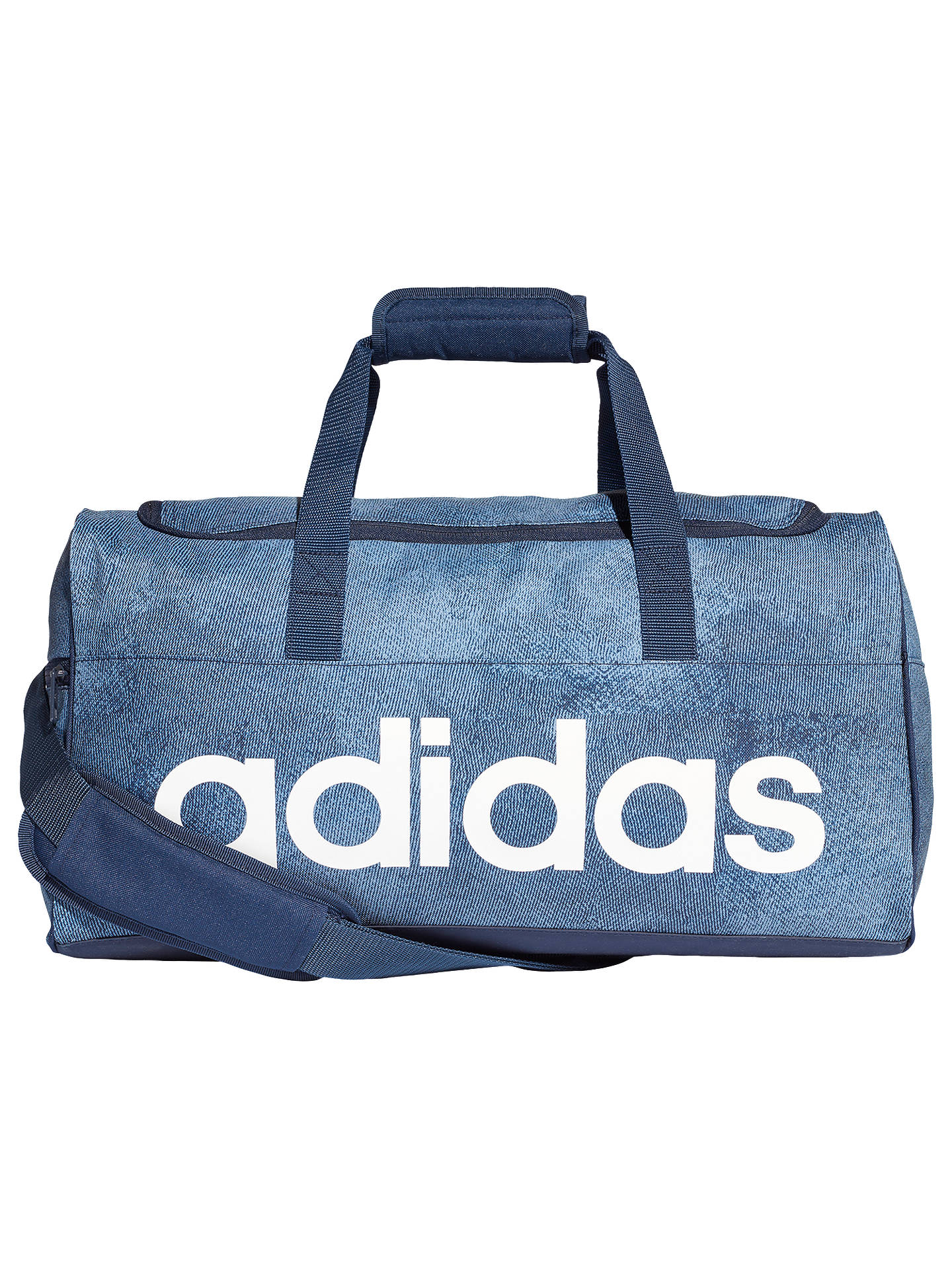 3059d2682c51b0 Buy adidas Linear Performance Duffel Bag, Small, Raw Steel Online at  johnlewis.com ...