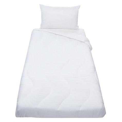 John Lewis Baby Duvet And Pillow Set 4 Tog White Online At Johnlewis