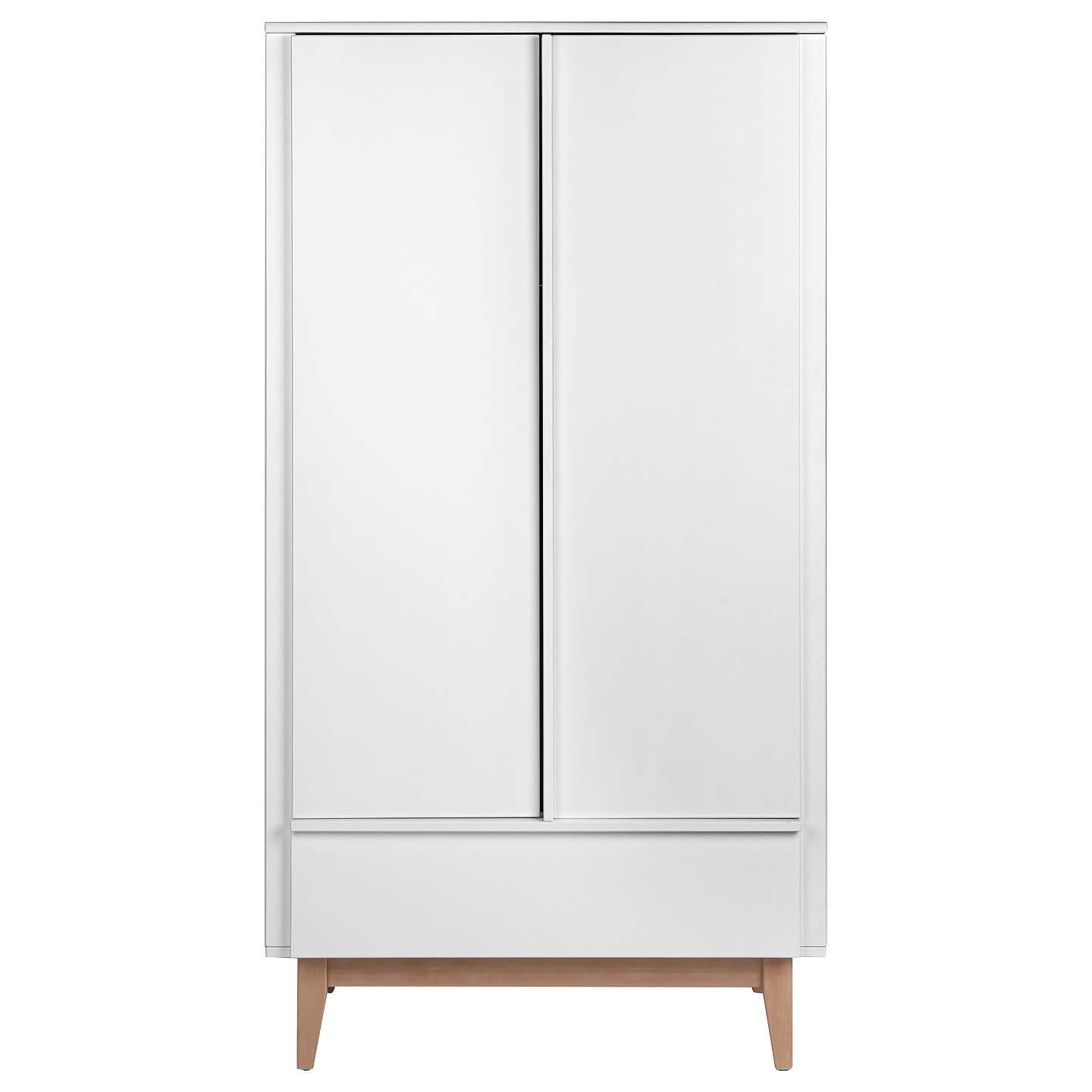 BuyTroll Scandy Wardrobe, White/Wood Online at johnlewis.com