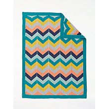 Buy John Lewis Baby Chevron Blanket, Multi Online at johnlewis.com