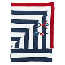 Buy John Lewis Baby London Applique Stripe Pram Blanket, 75 x 100cm, Multi Online at johnlewis.com