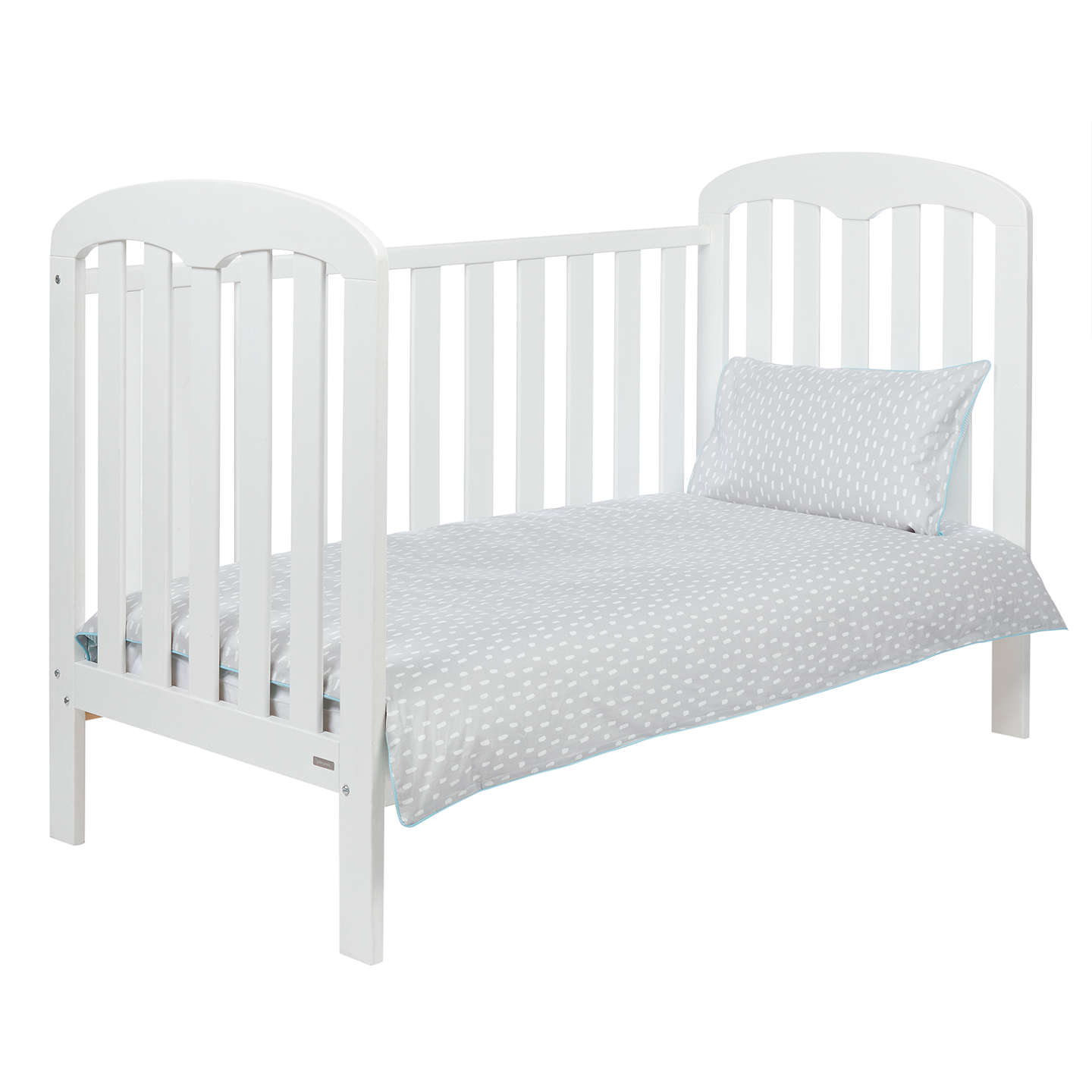BuyJohn Lewis Baby Grey/Blue Stripe Cotbed Duvet Set, 150 x 120cm Online at johnlewis.com