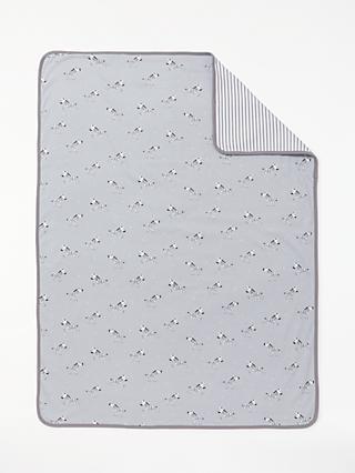 0b7e1975c058 John Lewis & Partners Baby Zebra Swaddle Blanket, ...