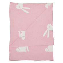 Baby blankets easter toys gifts john lewis buy john lewis baby rabbit pram blanket 75 x 100cm pink online at johnlewis negle Image collections