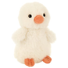 Buy Jellycat Fluffy Chick Soft Toy, Small, Cream Online at johnlewis.com