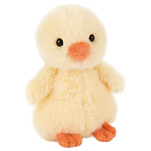 Buy Jellycat Fluffy Chick Soft Toy, Small, Yellow Online at johnlewis.com