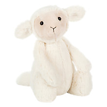 Buy Jellycat Bashful Lamb Soft Toy, Medium, Cream Online at johnlewis.com