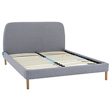 buy simba upholstered bed frame with headboard king size grey online at johnlewis