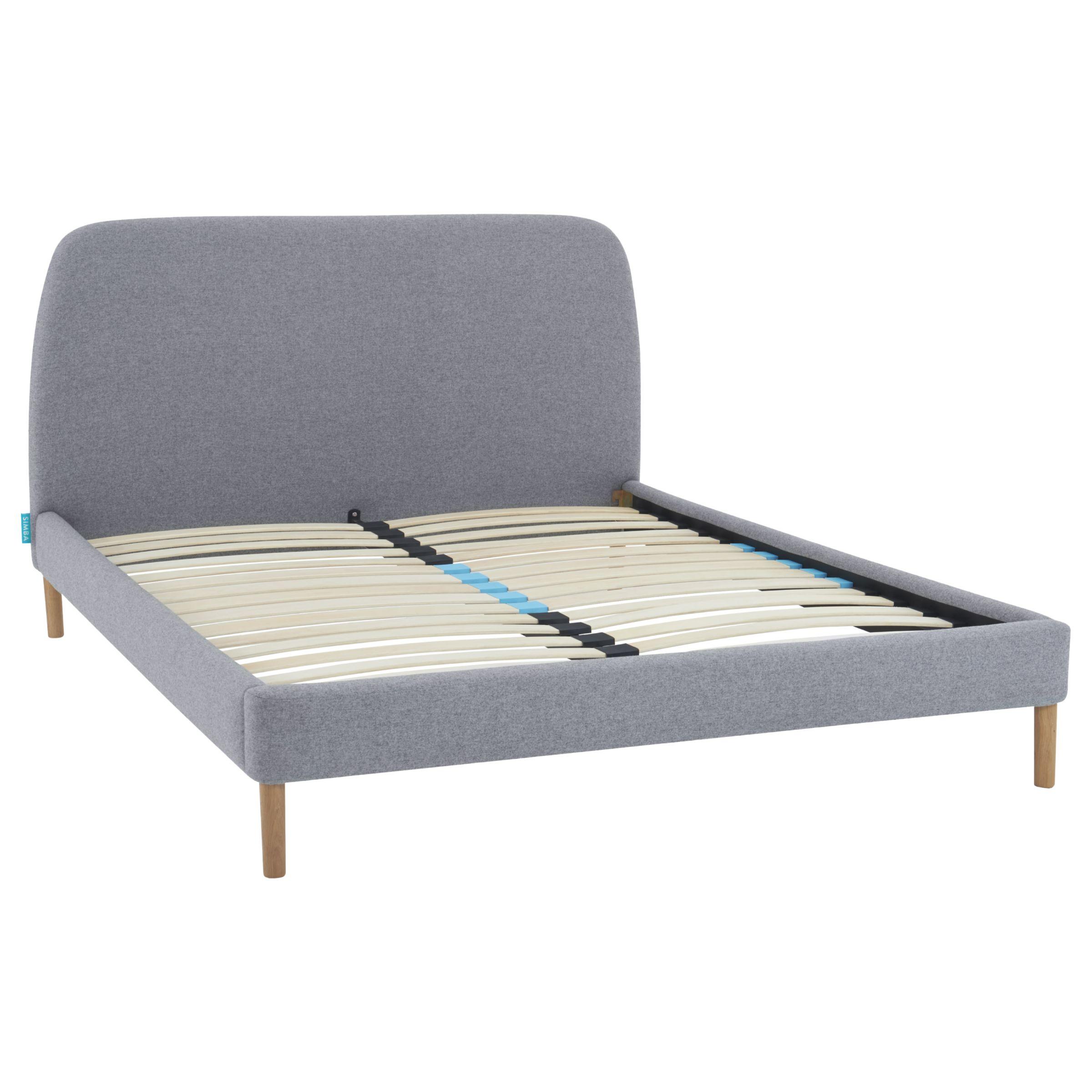 Simba SIMBA Hybrid® Upholstered Bed Frame with Headboard, King Size, Grey