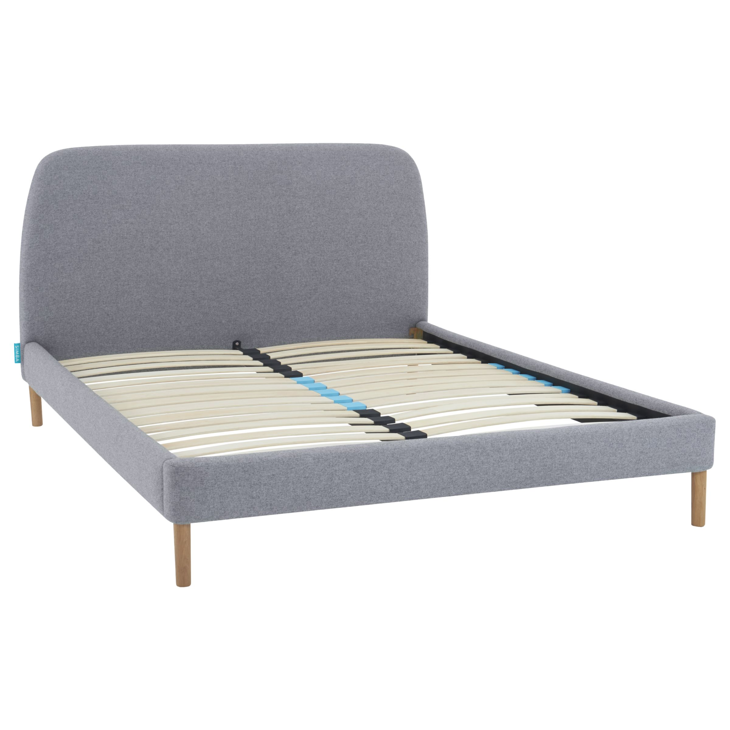 Simba Hybrid Upholstered Bed Frame With Headboard King Size Grey At John Lewis Partners