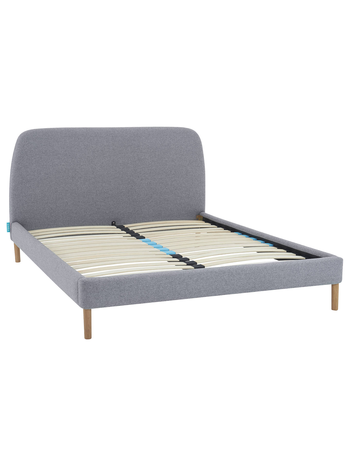 Simba Hybrid Upholstered Bed Frame With Headboard Super King Size