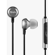Buy RHA MA650 In-Ear Headphones with High Resolution Audio & Mic/Remote for Android, Black Online at johnlewis.com