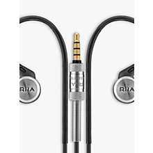 Buy RHA MA750i In-Ear Headphones with High Resolution Audio & Mic/Remote for iOS, Black Online at johnlewis.com