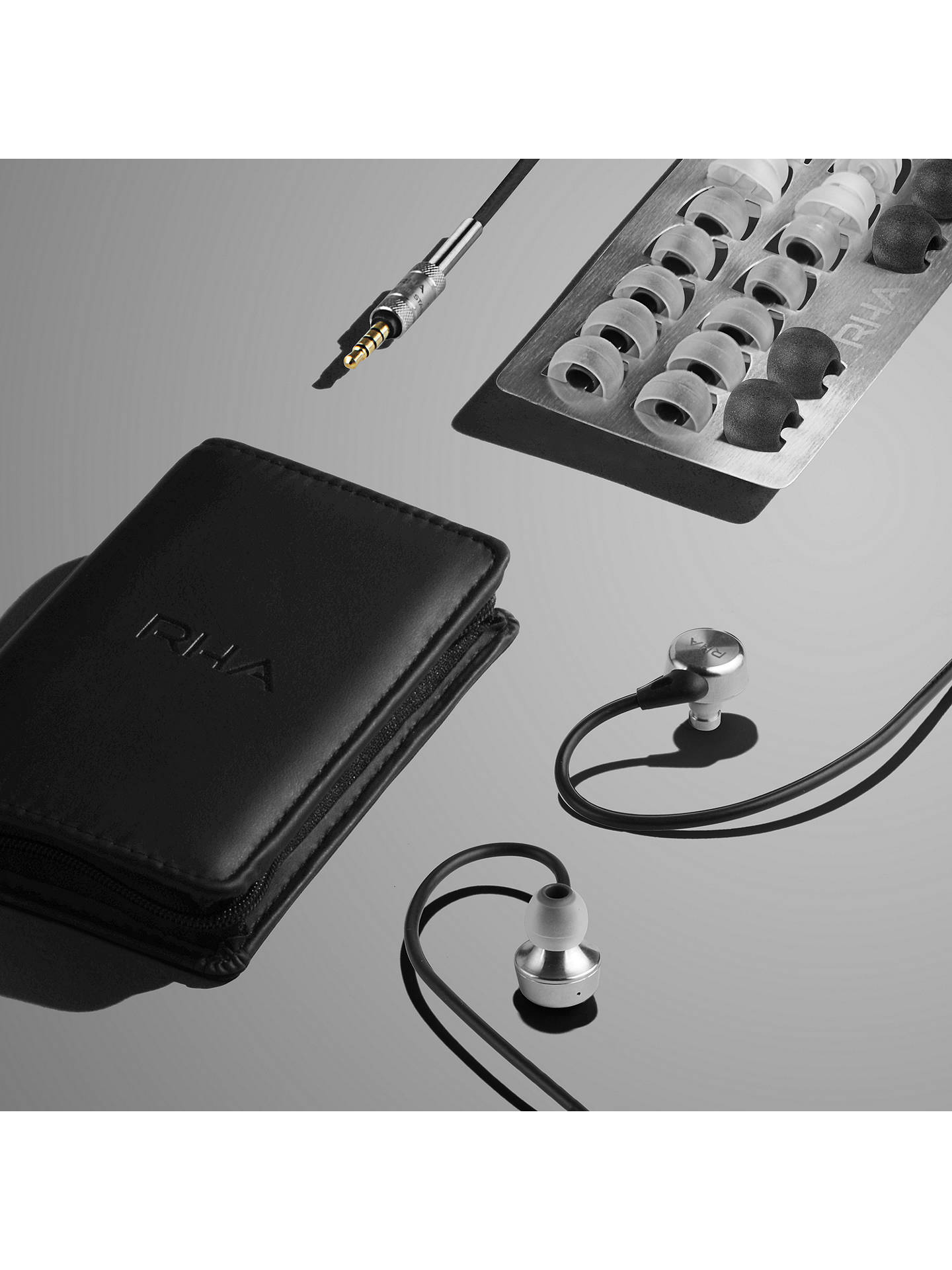 BuyRHA MA750i In-Ear Headphones with High Resolution Audio & Mic/Remote for iOS, Black Online at johnlewis.com