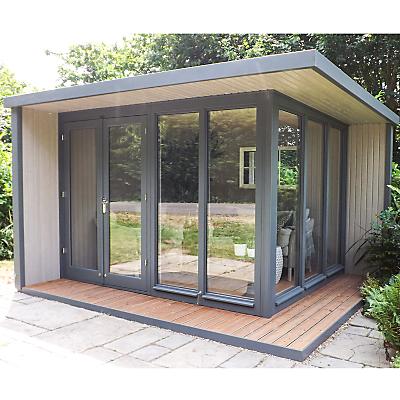 Crane 3 x 3.6m The Hub Outdoor Left-Hand Corner Studio, FSC-Certified (Scandinavian Redwood)