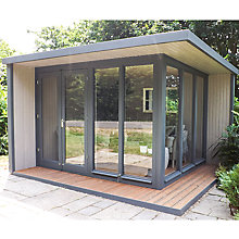 Buy Crane 3 x 3.6m The Hub Outdoor Left-Hand Corner Studio, FSC-Certified (Scandinavian Redwood) Online at johnlewis.com