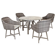 Buy KETTLER LaMode 4 Seater Outdoor Dining Table and Chairs Set, Rattan Online at johnlewis.com