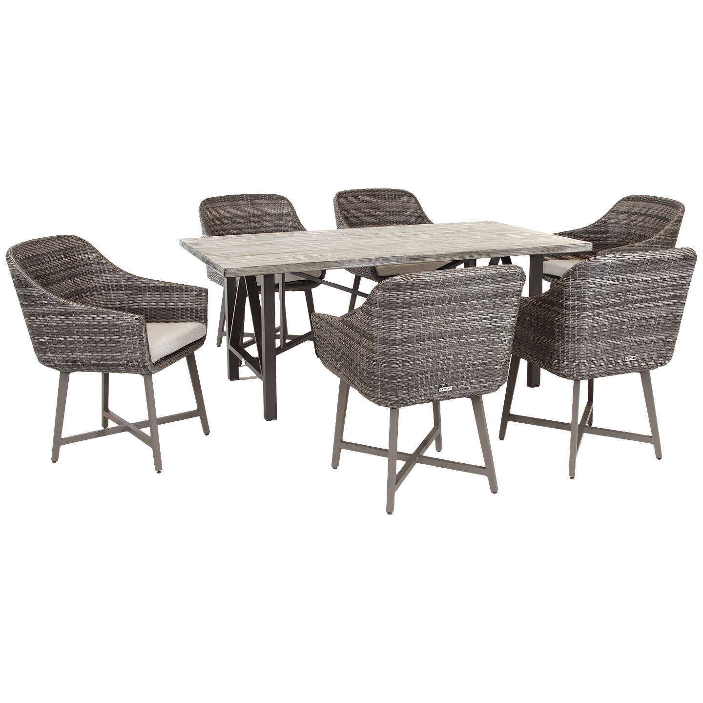 6 Seater Garden Furniture Kettler lamode 6 seater garden dining table and chairs set rattan buykettler lamode 6 seater garden dining table and chairs set rattan online at johnlewis workwithnaturefo