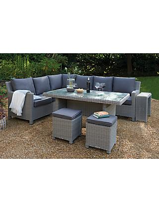 Kettler Palma 8 Seat Corner Garden Gl Table Chairs Lounge Set With Side