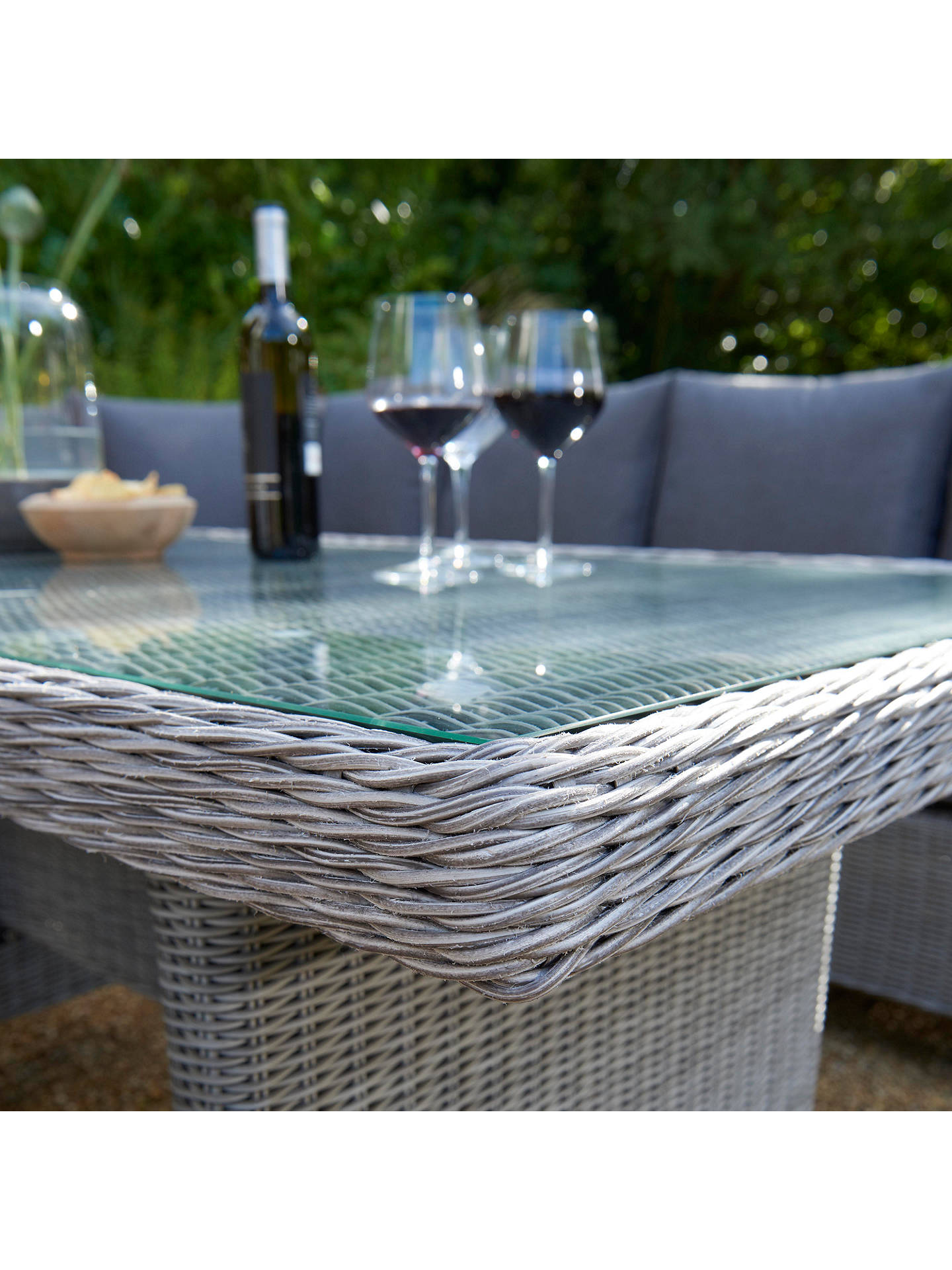 b527de054081 ... Buy KETTLER Palma 8 Seat Corner Garden Glass Table / Chairs Lounge Set  with Side Table
