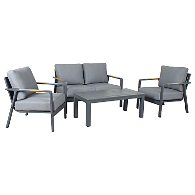 KETTLER Paros 4 Seater Outdoor Lounge Set, Grey