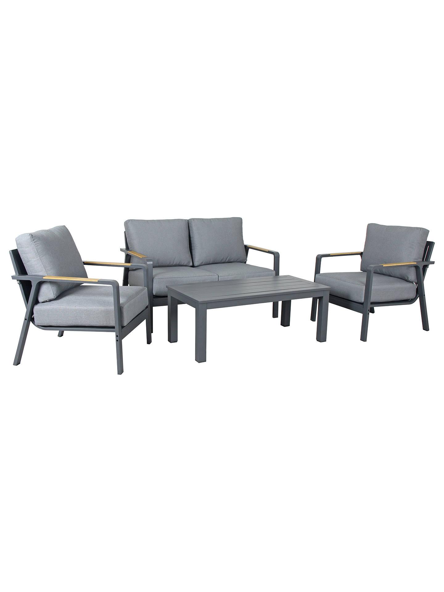 Cuba Loungeset Light Grey.Kettler Paros 4 Seater Garden Lounge Set Grey At John Lewis Partners