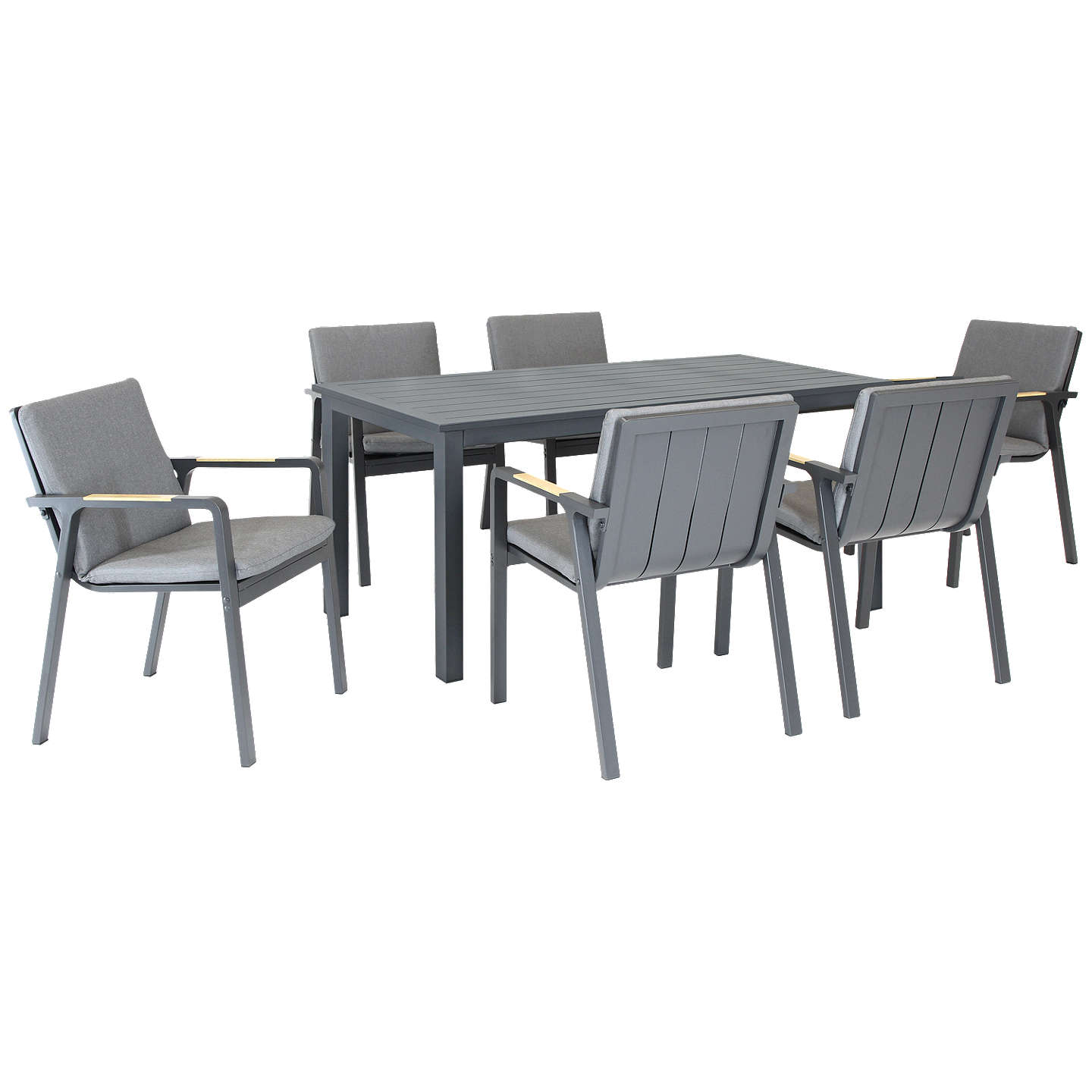 Kettler Paros 8 Seater Garden Dining Table And Chairs Set Grey