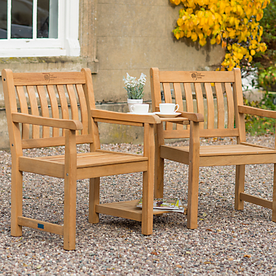 KETTLER RHS Chelsea Outdoor Companion Seat, Natural, FSC-Certified (Acacia Wood)