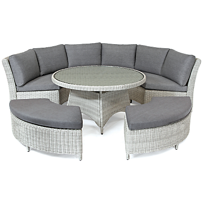 KETTLER Palma 8 Seater Round Outdoor Dining Table and Chairs Set