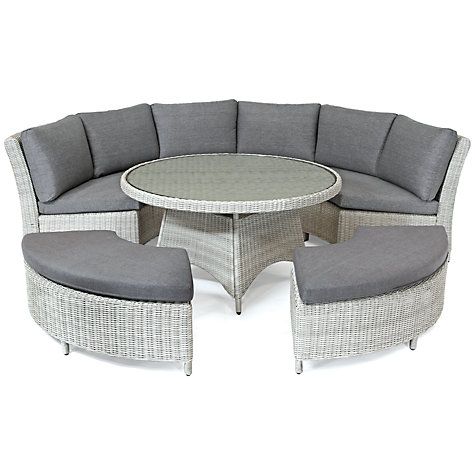 Buy KETTLER Palma 8 Seater Round Outdoor Dining Table And Chairs Set Online At Johnlewis