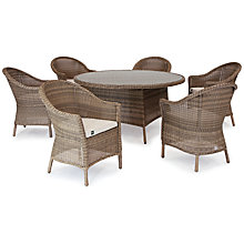 Buy KETTLER RHS Harlow Carr 6 Seater Outdoor Dining Table and Chairs Set, Natural Online at johnlewis.com