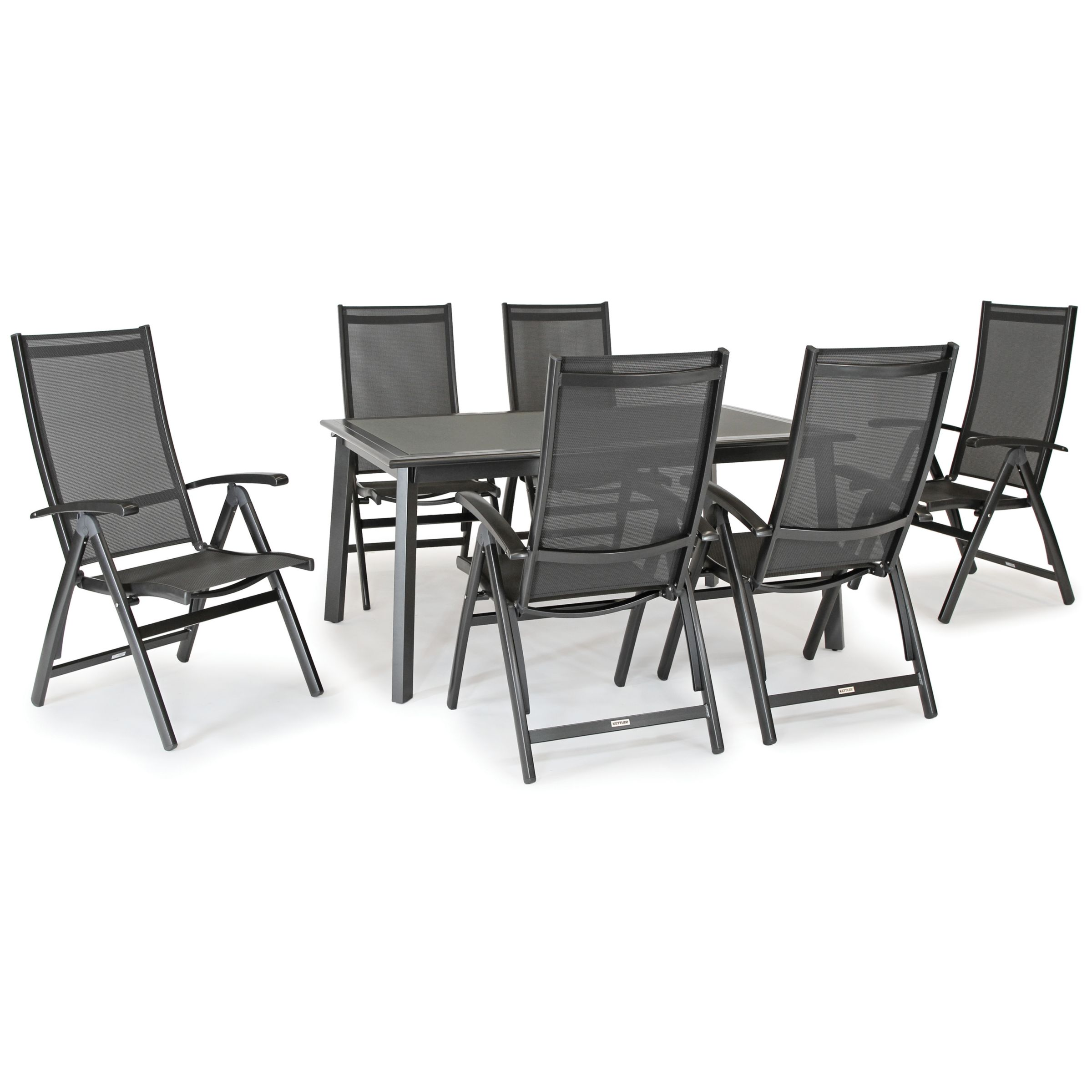 KETTLER Surf 9 Seater Garden Dining Table and Reclining Chairs Set