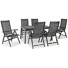 Buy KETTLER Surf 6 Seater Outdoor Dining Table and Reclining Chairs Set, Grey Online at johnlewis.com