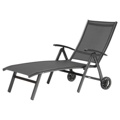 KETTLER Surf Folding Adjustable Sunlounger, Grey