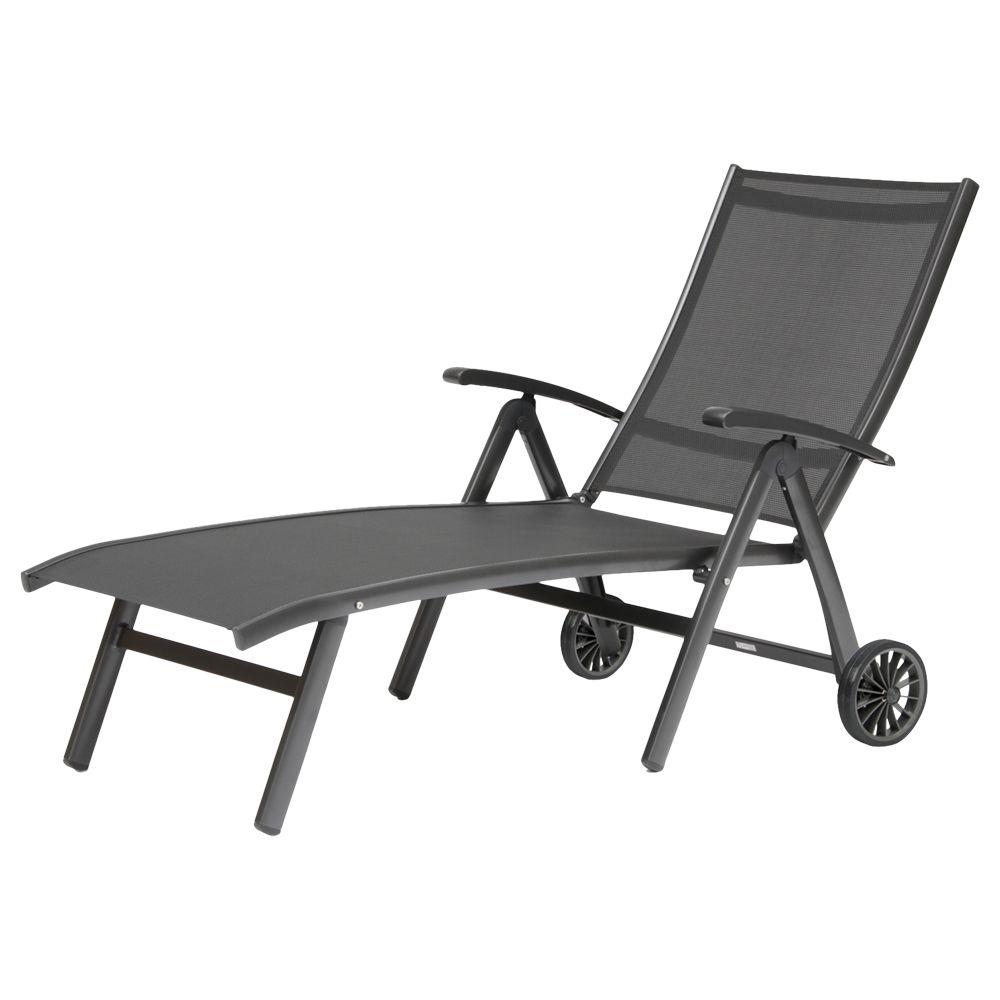 Kettler KETTLER Surf Folding Adjustable Sun Lounger, Grey