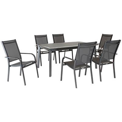 KETTLER Surf 6 Seater Outdoor Dining Table & Chairs Set