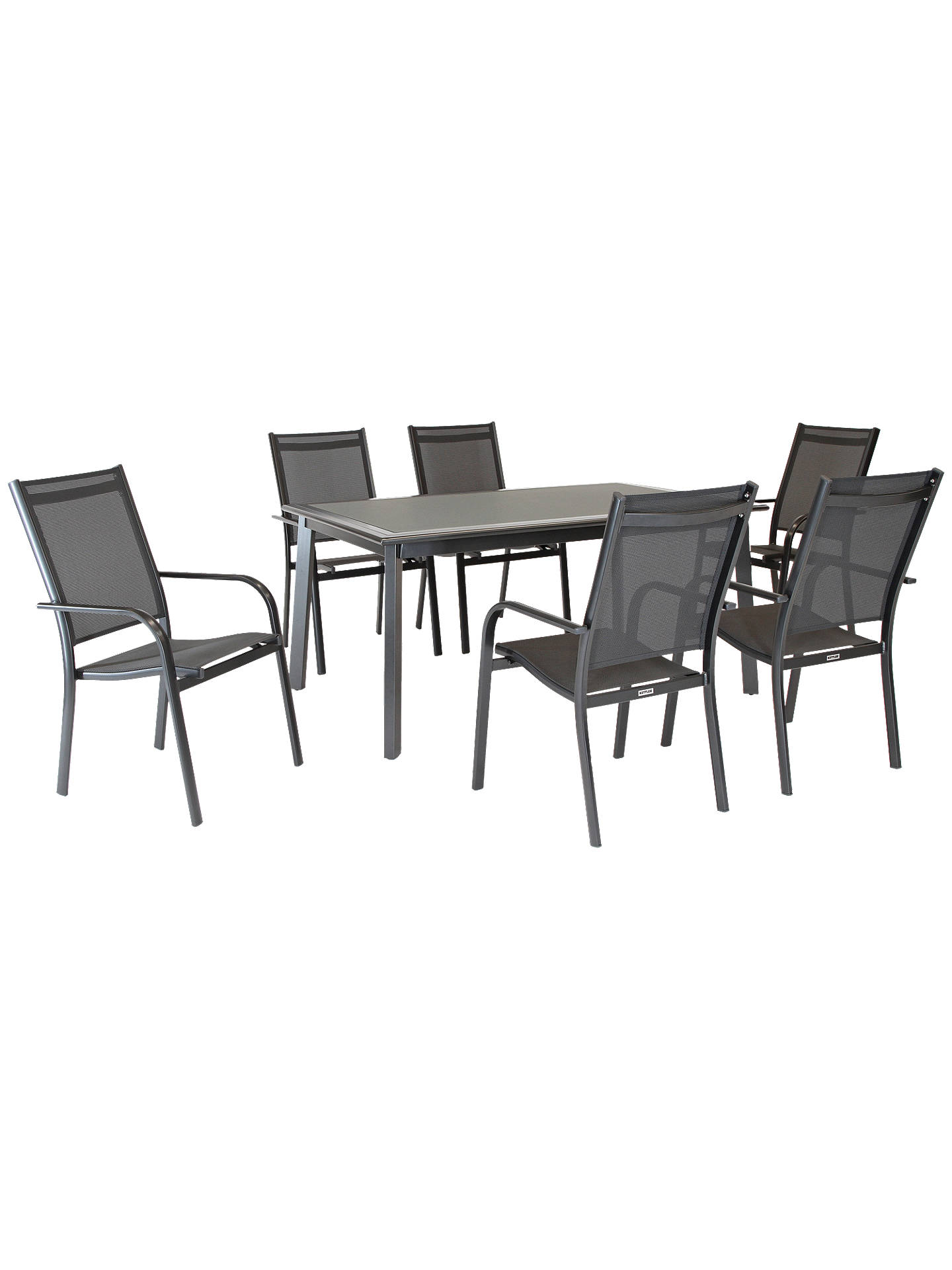 KETTLER Surf 6 Seater Garden Dining Table & Chairs Set at